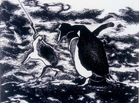 God Fishing For Penguins