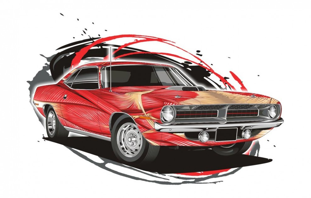 Muscle Car - Vector Version
